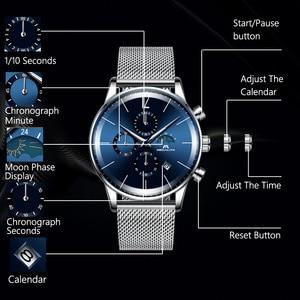 Image 3 - MEGALITH di Modo Mens Orologi di Marca Top Blu Viso Sport Impermeabile Cronografo Al Quarzo Orologio Da Polso Per Orologio Da Uomo Orologio Relogio Masculino