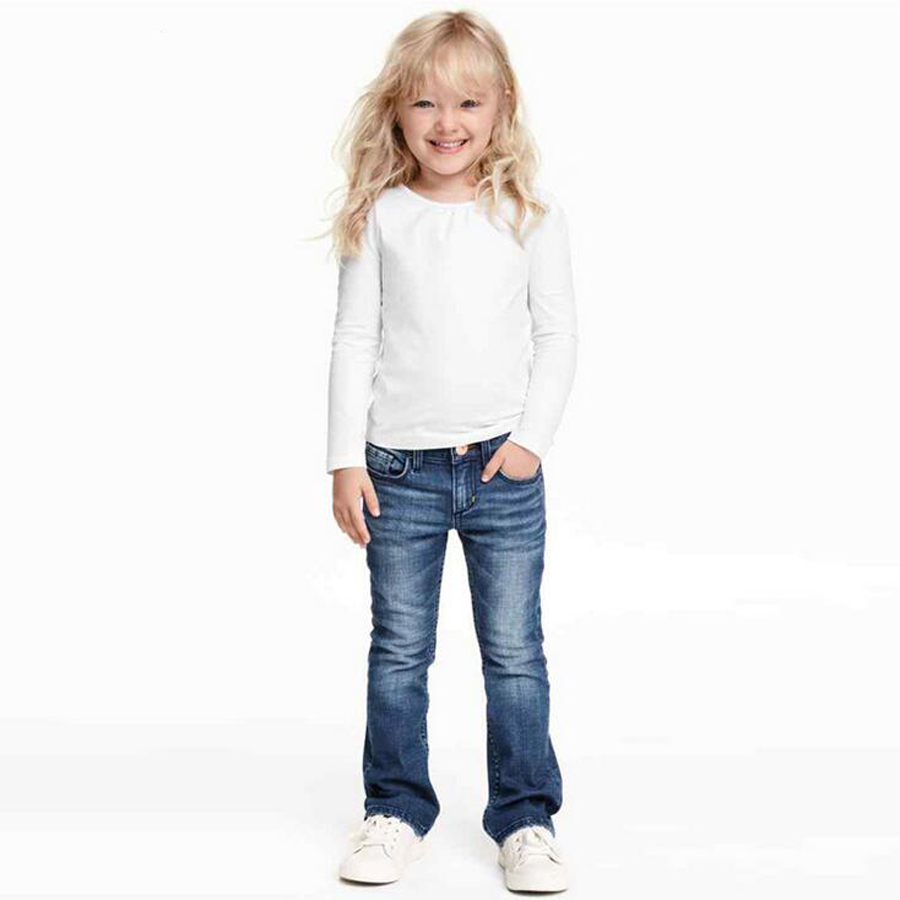 Aliexpress.com : Buy Little Girls Stitch Boot Cut Jeans Bootcut