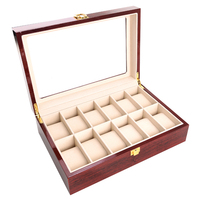 Counters Home Jewelry Storage Wooden Glass Case Organizer Non Slip Vintage Watch Box Gifts Solid Box Display Stand With Lock