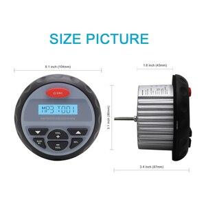Image 3 - Marine Bluetooth Radio MP3 Player Stereo FM AM USB Audio Marine Wasserdichte Boot Lautsprecher Für Outdoor ATV UTV Motorrad + antenne
