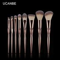 UCANBE Brand 8pcs Rose Gold Makeup Brushes Kit Pro Persian Wool Eye Shadow Blush Foundation Contour