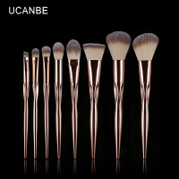 UCANBE Brand 8pcs Rose Gold Makeup Brushes Kit Pro Persian Wool Eye Shadow Blush Foundation Contour