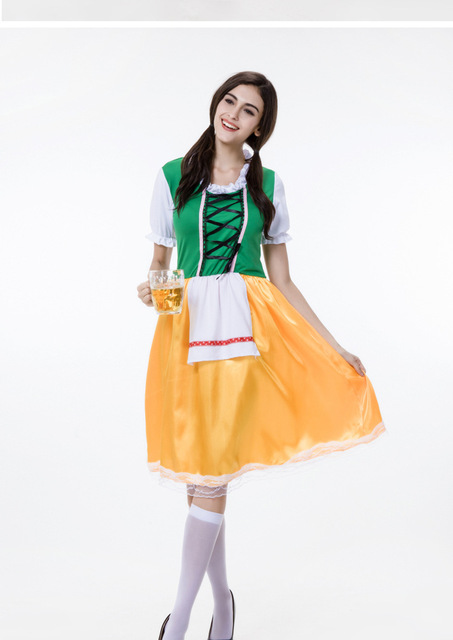 Sexy Sweet Gothic Lolita Dress French Beer Maid Costume Anime
