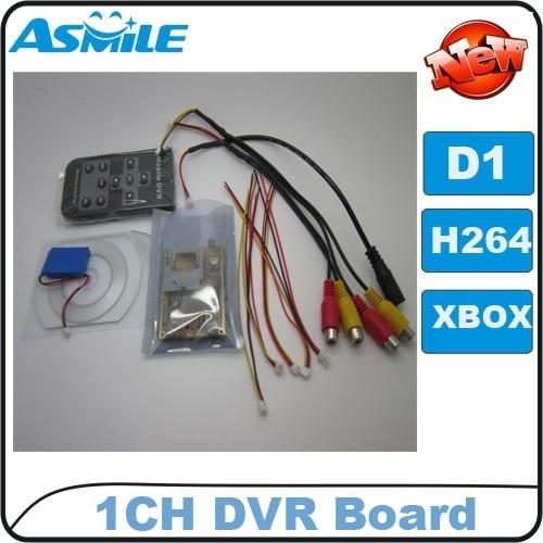 hot sale 1ch DVR Board, Car DVR Board, Mpeg-4, D1 resolution, IR remote control, AV input/output from asmile