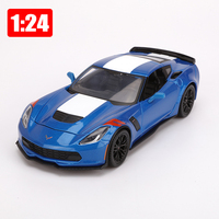 Maisto Model 1:24 Alloy Super Sports Car Chevrolet Corvette Simulation Car Office Decoration Toy Children Boy Gift