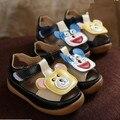 Nuevo 2016 Lindo de la Historieta Muchachas de Los Gatos de Dibujos Animados Sandalias Respirables Suaves Zapatos de Los Niños para el Verano #2213