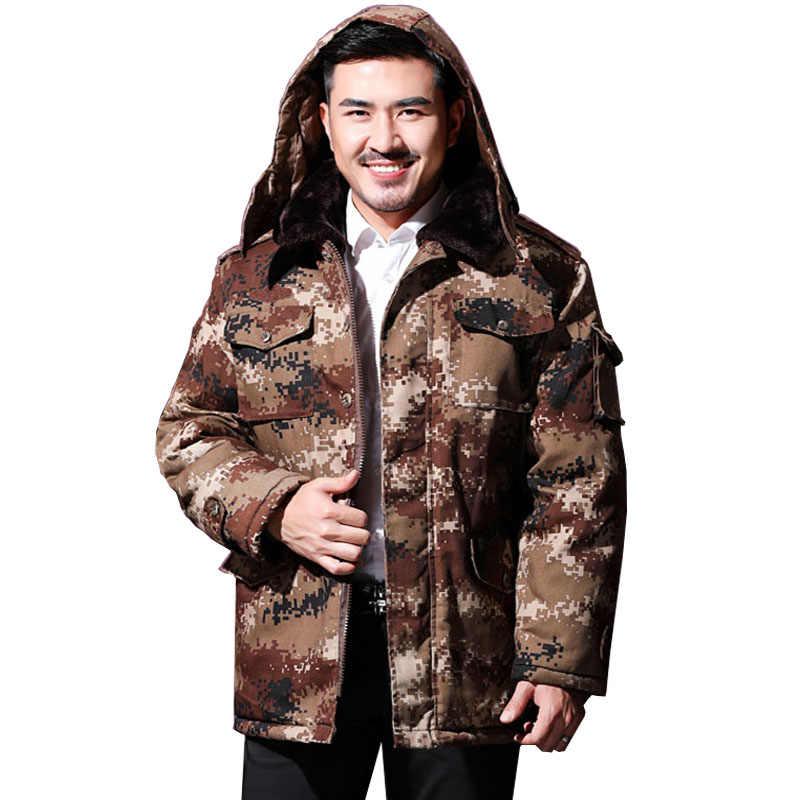 メンズ冬のパーカーミリタリー camouflag ジャケット迷彩プラスサイズの服軍狩猟服軍事暖かい厚手の男性のコート