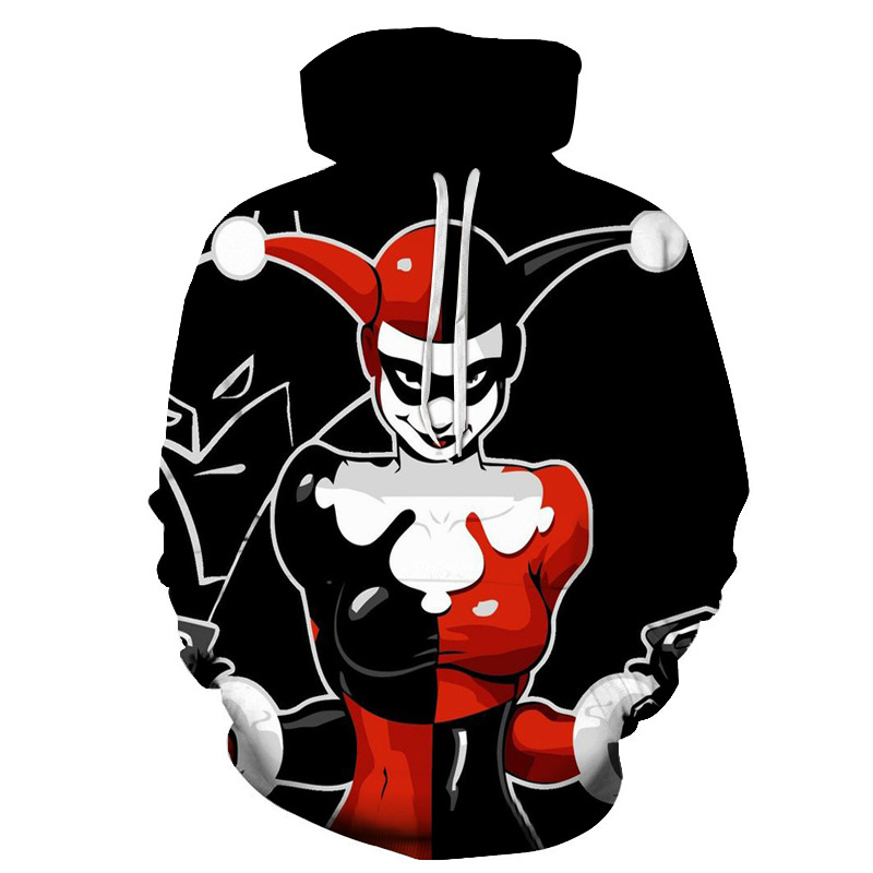 New 3D wild clown male / female hoodie casual hoodie Spring and Sunmmer fashion hoodie Asian size S-6XL Unisex