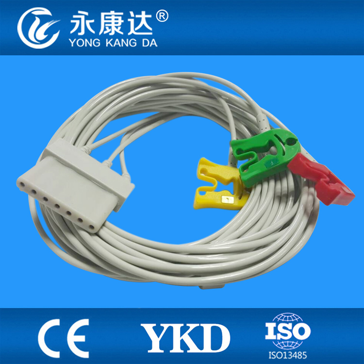 SChiller 3 leads ECG adapter cable with clip ends from Chinese manufacturesSChiller 3 leads ECG adapter cable with clip ends from Chinese manufactures