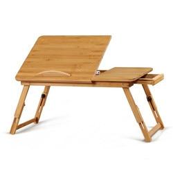 Proste biurko komputerowe biurka Laptop biurka College Student leniwy stoły uczących się biurko lampy led wysokiej jakości bambusa składane stoły meble biurowe
