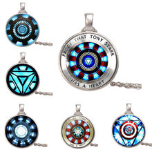 12 Styles Action Figure Toy 2019 Tony Heart Necklace Endgame Iron Man Arc Reactor glowing DIY iron man heart model(China)