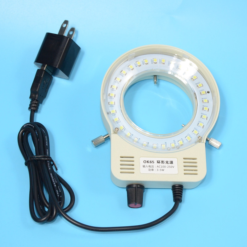 White Light Source LED Microscope Lamp OK65 PDOK Dimmable LED Industrial Camera Light Source in Instrument Parts Accessories from Tools