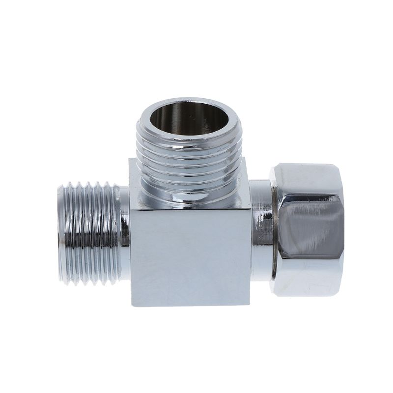 1/2 Inch Brass Chrome 3 Way Diverter Hose Fitting Tee T Shape Adapter Bath Connector Valves Bathroom Accessories