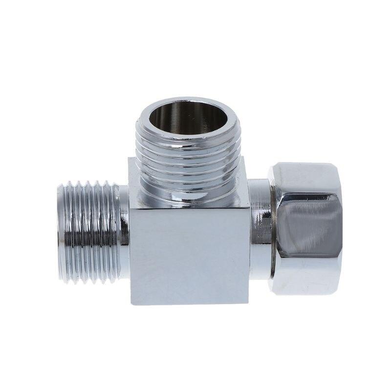 Sanitär 1/2 Zoll Messing Chrome 3 Weg Umsteller Schlauch Fitting T T Form Adapter Bad Stecker Ventile Auswahlmaterialien Ventil