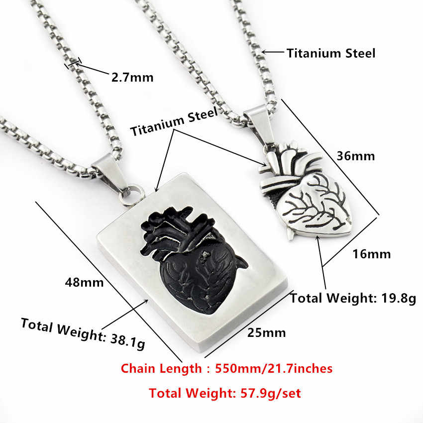 f8c917bf84 ... Punk Anatomy Jewelry Anatomical 3D Heart Necklace Titanium Stainless  Steel Doctor Nurse Medical Physicians Graduation Gift ...