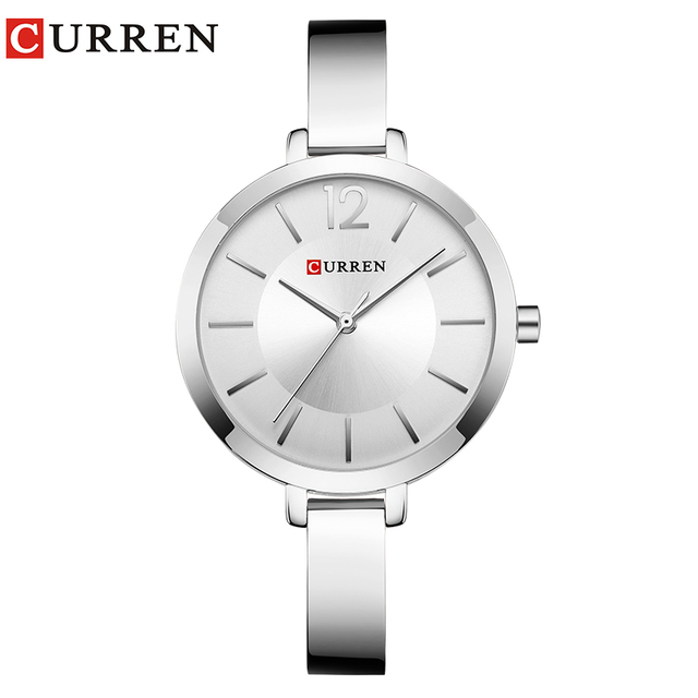 CURREN Fashion Women Dress Wristwatch Ladies Quartz Watch Brand Luxury Women Bra