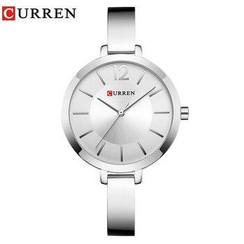 783a5dbf734c Reloj de pulsera de mujer de moda CURREN para mujer
