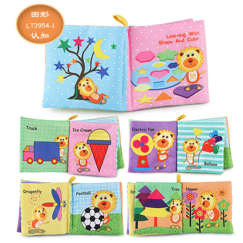 Intelligence Development Soft Cloth Cognize Book Educational BB Sound For Baby W
