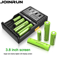 Original Joinrun S4 Li Ion Battery Charger LCD Screen Intelligent 18650 Battery Charger 14500 16340 26650