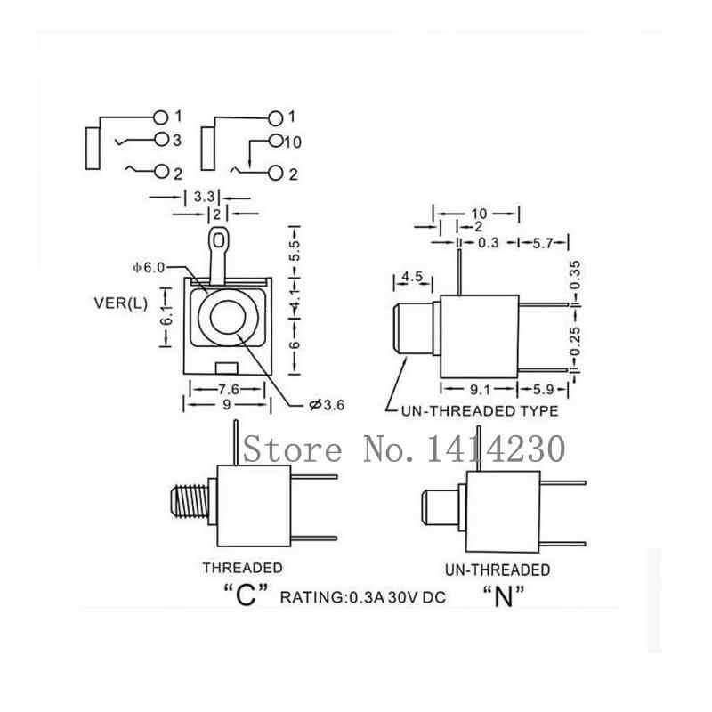 10pcs Good Quality 3 5mm Female Audio Connector 3 Pin Dip Headphone Jack Socket Mono Channel Pj 301m Pj301m L Connector Channel Pin Aliexpress