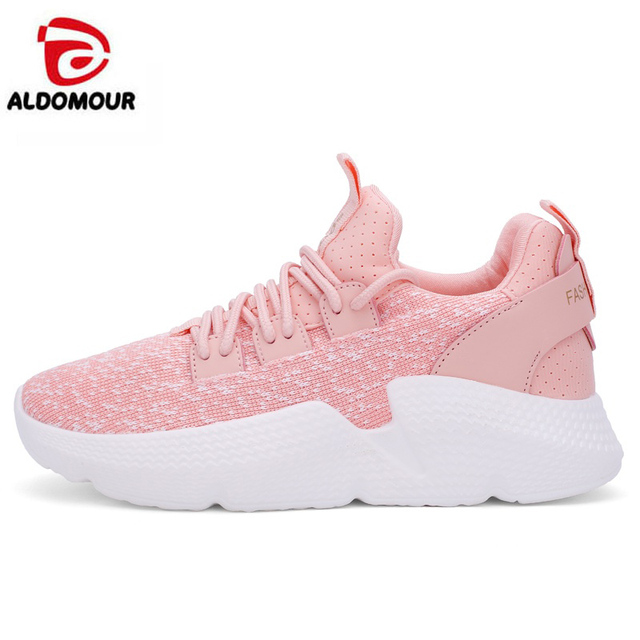 ALDOMOUR Women Running Shoes Sneakers Shoes Size 35-40 Sports Shoes Stability Comfortable Hard Court Breathable New Arrival ZC