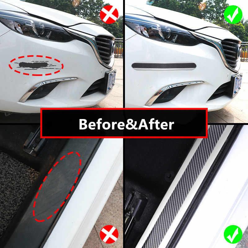 Наклейки на дверь машины углеродного волокна резиновый протектор двери Наклейка для порога Авто укладки автомобили бампер протекторы внешние аксессуары
