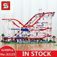 Специальное предложение DHL H & HXY S 1125 4249 шт. ролик забавная модель Coaster набор Buidling Конструкторы кирпичи дети игрушечные лошадки модель подарки