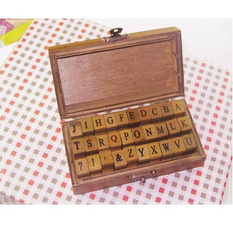 Decorative Diy Creative Letter & Symbol Alphabet Wood Rubber Stamps Set Efficient Free Shipping,30sets 30pcs/set Bookmark