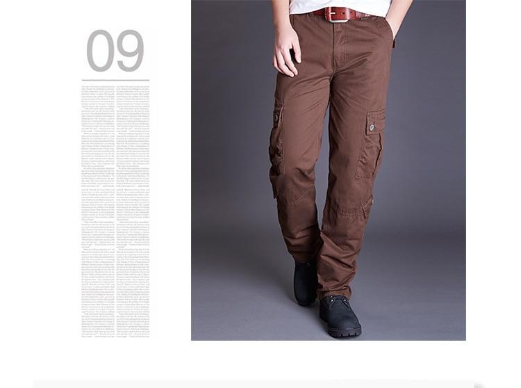 Icpans Winter Tactical Black Cargo Pants Men Loose Fit Military Style Side Pockets Army Black Denim Casual Men Pants Size 40 42 20