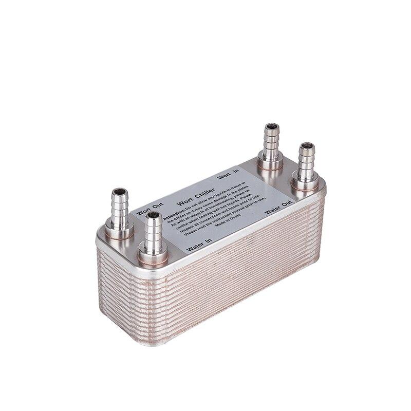 Scambiatore di calore a piastre In Acciaio Piatto Wort Chiller-30 piastre Birra Chiller, con 1/2