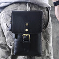Genuine Leather Crazy Horse Cowhide Men Fanny Waist Bag Cell Phone Case Purse Small Cross body Messenger Shoulder Belt Pack Bags