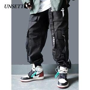 Image 4 - 2020日本側ポケットカーゴパンツミリタリースタイルの男性ヒップホップ男性taticalズボンジョギングカジュアルストリートパンツ