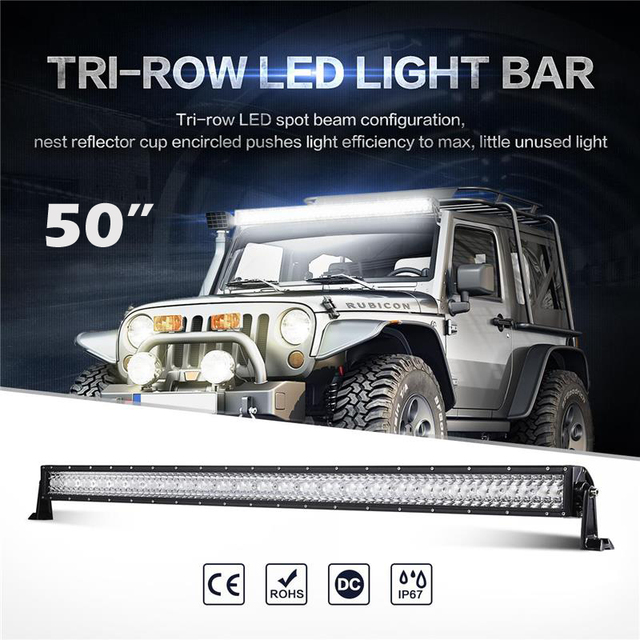 Oslamp triple row 50 straight led light bar spot flood combo beam oslamp triple row 50 straight led light bar spot flood combo beam offroad led aloadofball Image collections