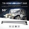 Oslamp Triple fila 50 recta luz LED Bar inundación del punto Combo haz Offroad Led luz de conducción Bar camión pickup ATV SUV 12 V 24 V