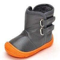 عالية أعلى طفل الفتيان أحذية الثلوج الأحذية أزياء الشتاء الدافئ ل طفل بو الأحذية الجلدية مع أفخم الفراء عدم الانزلاق المطاط وحيد
