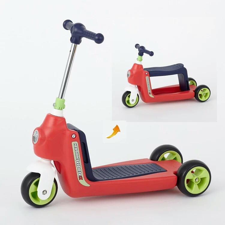 2 In 1 Baby Car Children Scooter Tricycle Multi-function Child Scooter Kids Ride on Car Balance Bike Baby Walker with Wheels original fisher price multi function baby walker lion car children activity musical baby walker with wheels adjustable car