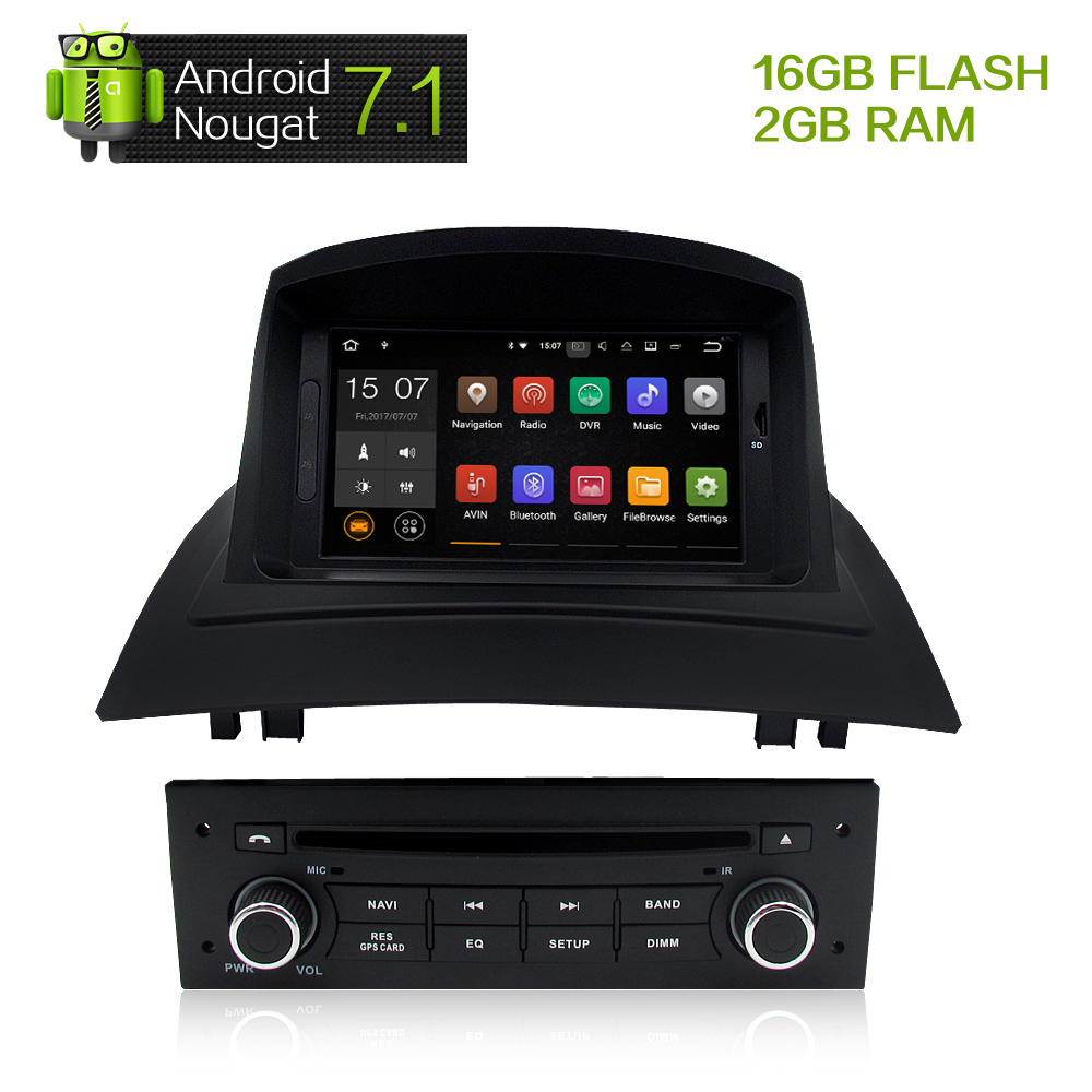 7android 7 1 car stereo dvd multimedia for renault megane 2 fluence 2002 2008 auto radio gps. Black Bedroom Furniture Sets. Home Design Ideas