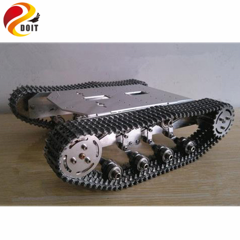 Metal Track Version! Big load Carry 8~10KG/Metal Tank Car Chassis/All Metal Structure,Big Size/Obstacle-surmounting Tank Car DIY wenhsin diy metal structure tank chassis tracked robot car obstacle avoidance
