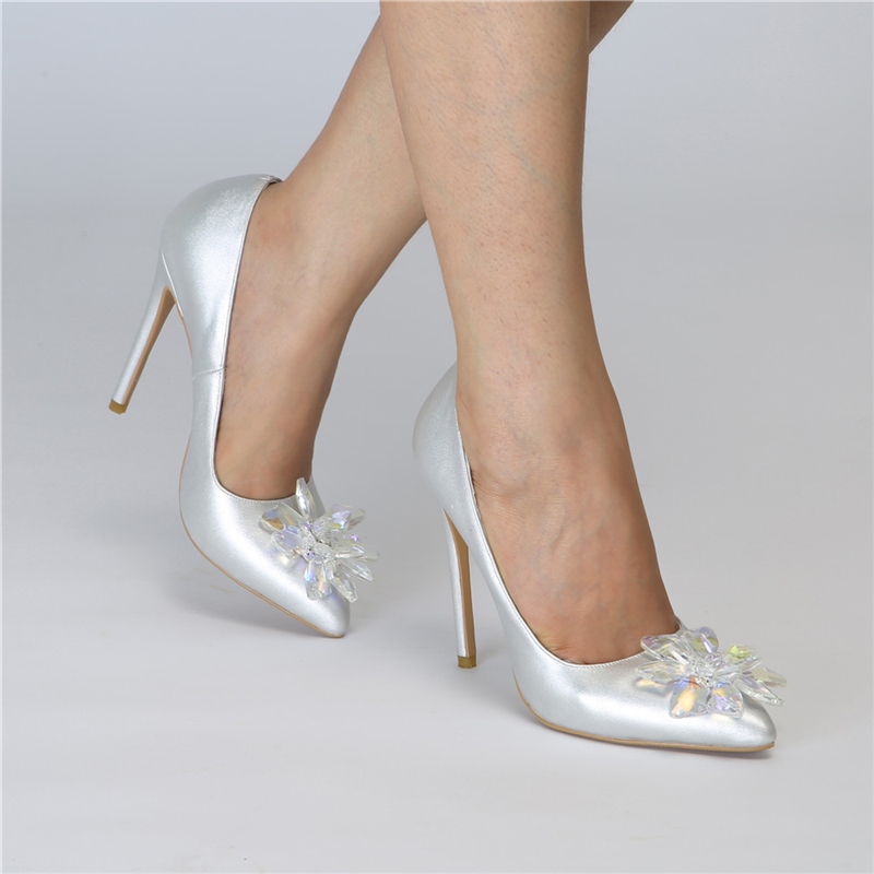Doratasia New Arrivals Sale Big Size 47 Crystals Women s Shoes Sexy Thin High Heels Party