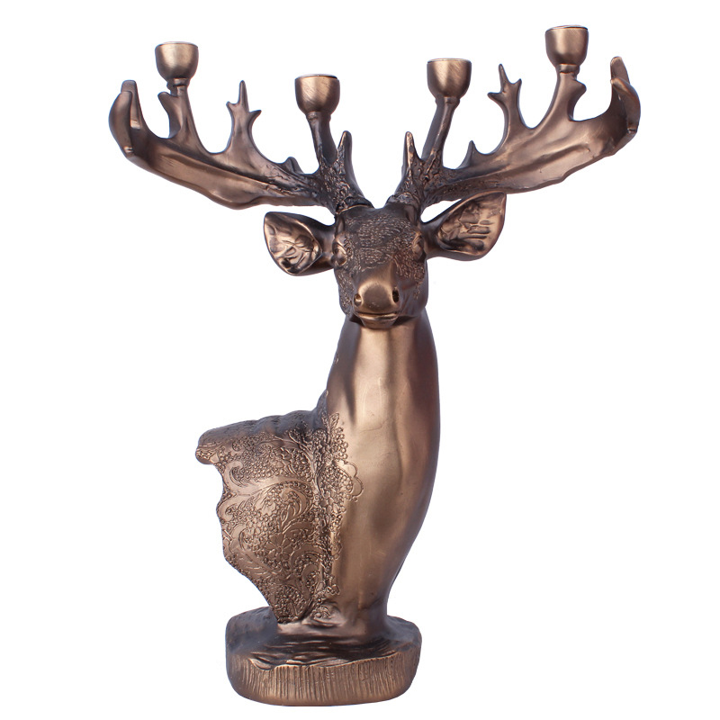 European Resin Elk Crafts Party Wedding Ornaments Cabinet Shop Decoration Accessories Deer Head Ornament Creative Business GiftsEuropean Resin Elk Crafts Party Wedding Ornaments Cabinet Shop Decoration Accessories Deer Head Ornament Creative Business Gifts