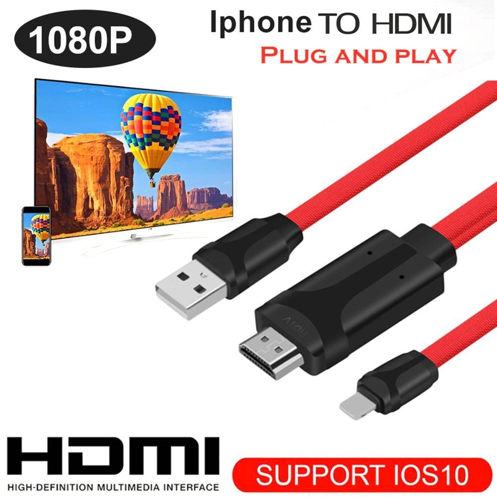 1,8 м 8 Pin к HDMI HD ТВ AV Кабель-адаптер USB HDMI 1080 P конвертер для кабеля с радиатор для iPhone 7/7 Plus/6 S iOS8.0 ТВ