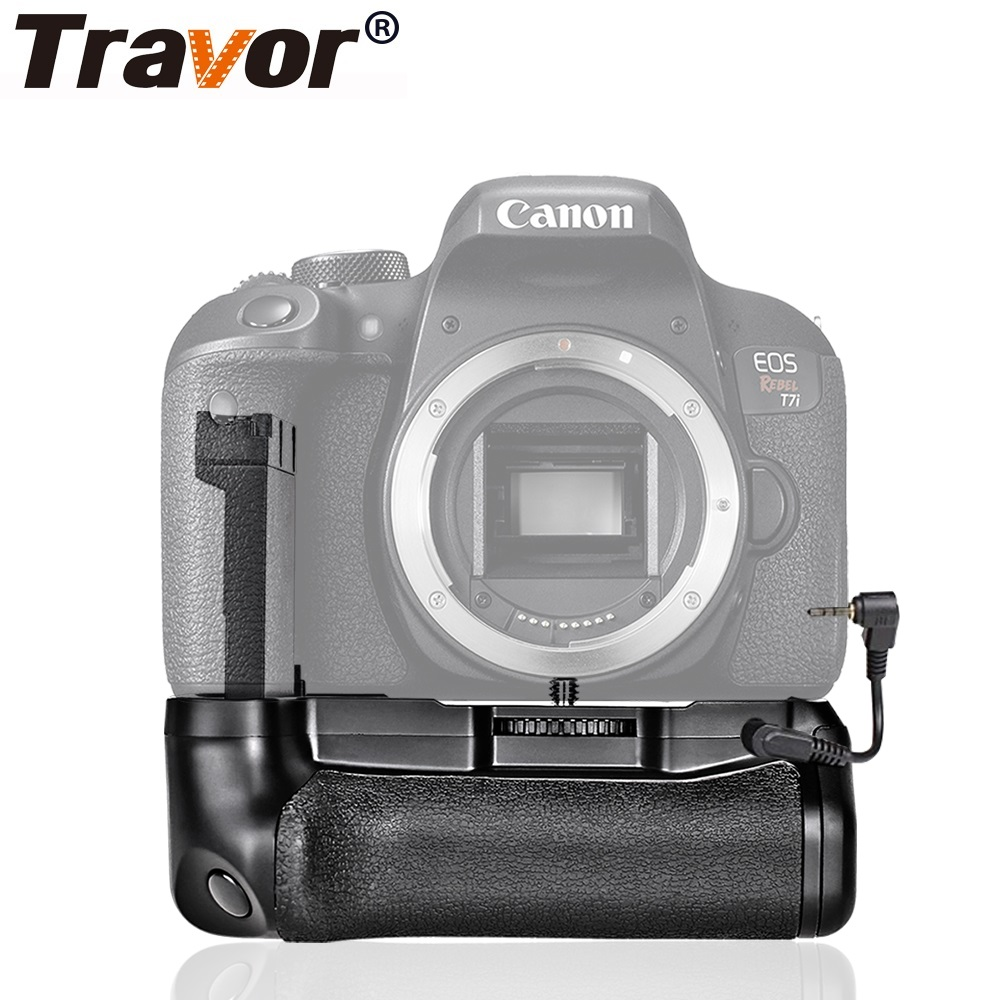 US $23 62 32% OFF|Travor Camera Vertical Battery Grip Holder For Canon EOS  800D Rebel T7i 77D Kiss X9i Battery Handle Work With LP E17 Battery-in