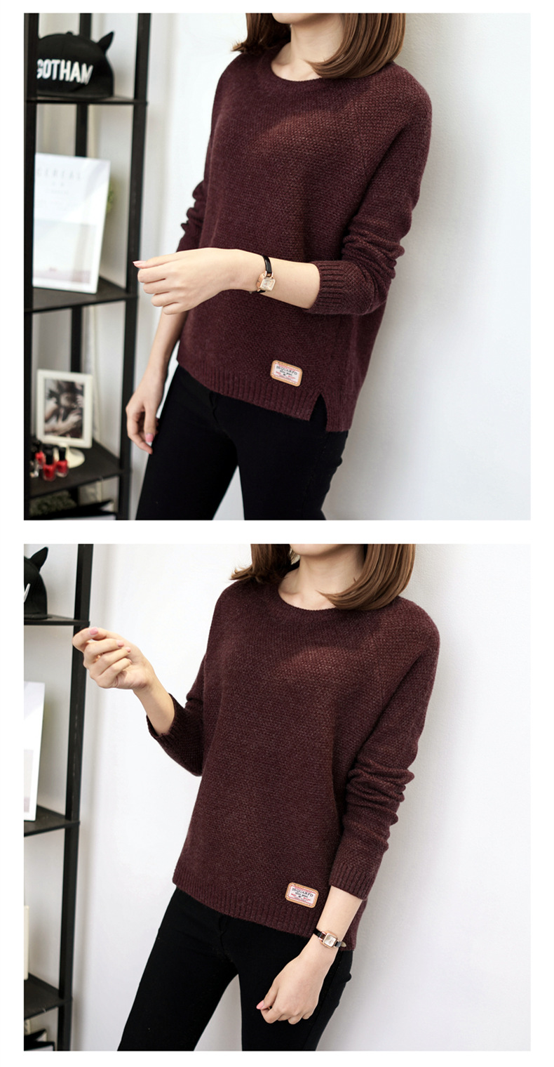 Autumn sweater 19 Winter women fashion sexy o-neck Casual women sweaters and pullover warm Long sleeve Knitted Sweater 15