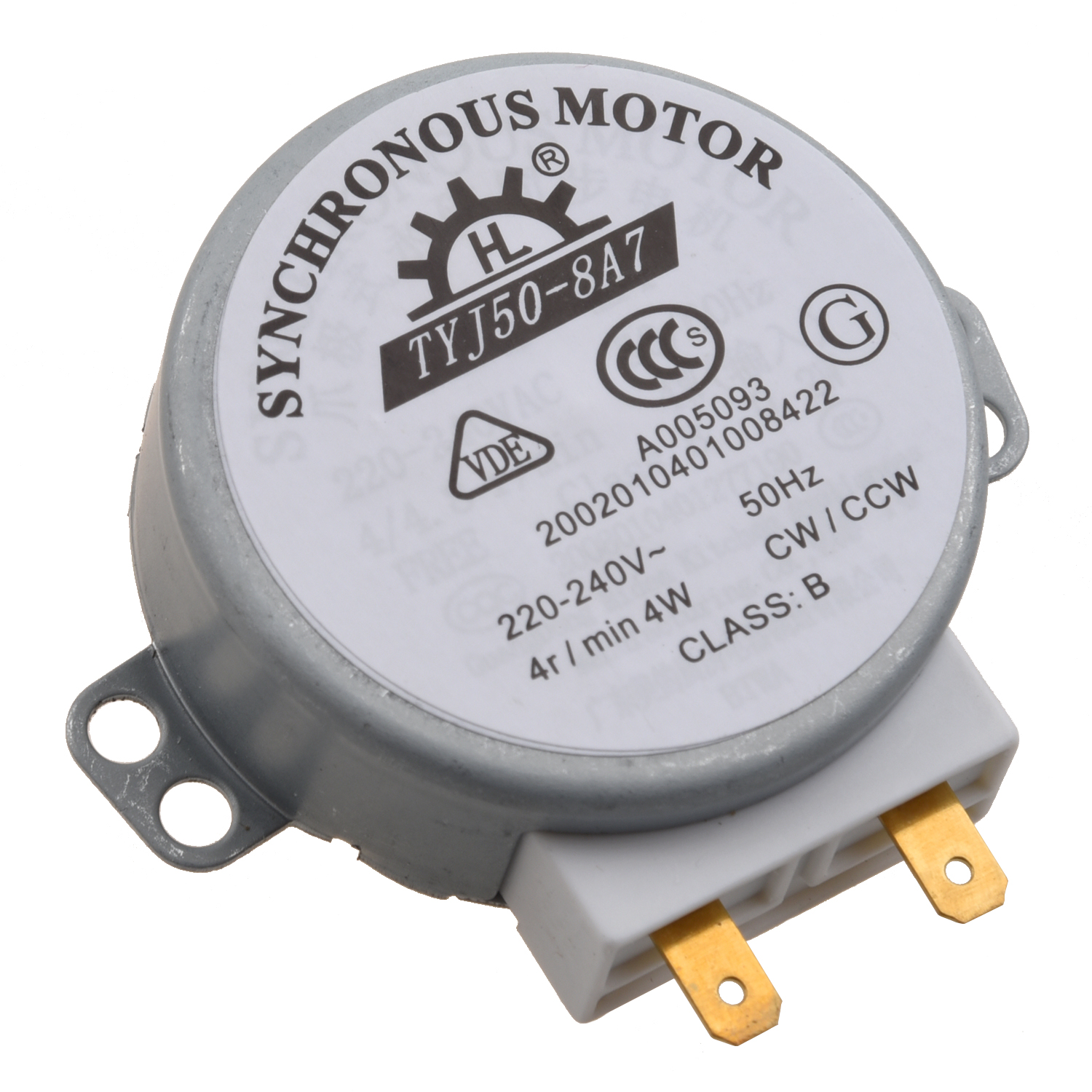 miniwave Oven Turntable Synchronous Motor 4W AC 220-240V 4 RPM CW/CCW