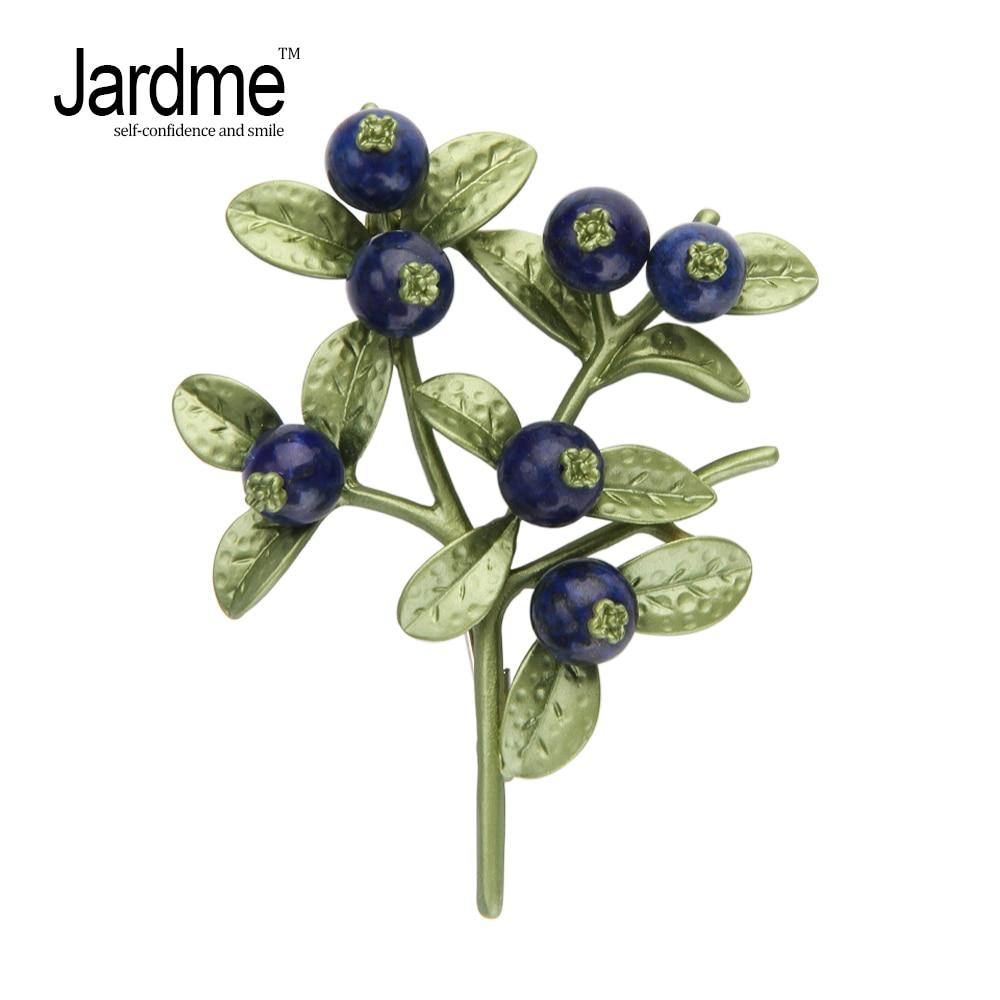 Jardme Blueberry Branches Plant Brooch Lifelike Vintage Banquet Scarf Gift Women's wedding 2 Sets Accessories прибор для авто oem led 2 52 temp
