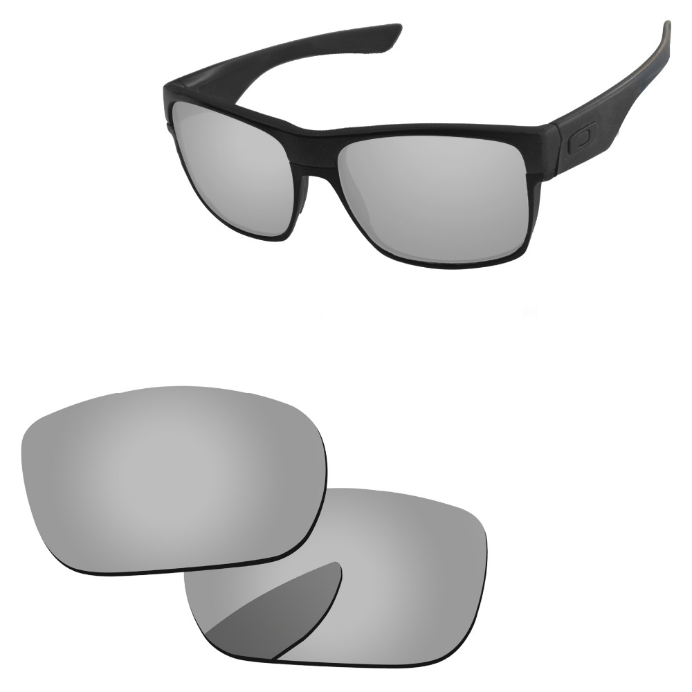 Polycarbonate-Chrome Silver Mirror Replacement Lenses For TwoFace Sunglasses Frame 100% UVA & UVB Protection