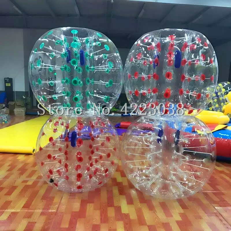 Free Shipping 0.8mm PVC1.5M Diameter Inflatable Bumper ball Zorb Ball Human Knocker Ball Bubble Soccer Giant Human Hamster Ball