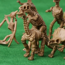 12pcs/Set Novelty Assorted Dinosaur Fossil Skeleton Figures Model Building Kits Dollhouse Decor For Children Kid Adult-m15