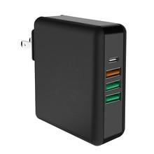 61W 3A Type C QC 3.0 Fast Charger Adapter for Macbook Pro PD 3.0 USB Quick Charge 3.0 Mobile Phone Charger 5V 7V 9V 12V 20.3V зарядное устройство belkin usb c car charger w usb c cbl 9v 12v pd 27w 4 blk