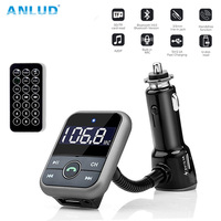 ANLUD Bluetooth Aux Car FM Transmitter USB Charger Car MP3 Player With AUX USB SD TF